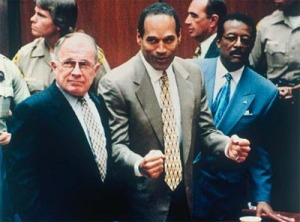 OJ reacts to being acquitted in 1995