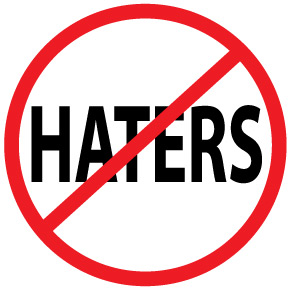 The Official No Haters Button