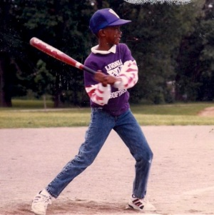 This is me checking my swing in 1989. I still keep 2 gloves in my car to this day.