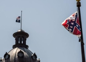 Meanwhile, this flag flew a full mast after the shooting. Bad, bad look!