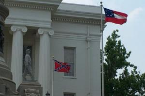 The battle flag of the Confederacy flew outside Alabama's state capital just yesterday...